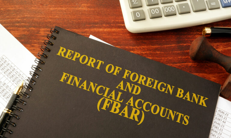 Report of Foreign Bank Account