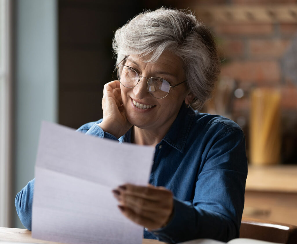 Woman reviewing her Foreign Bank Account Statements